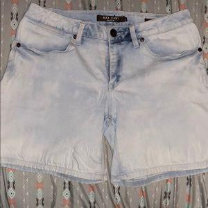 Max-Jeans midi-shorts in light blue/white-sz 8
